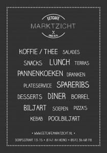 Marktzicht menukaart